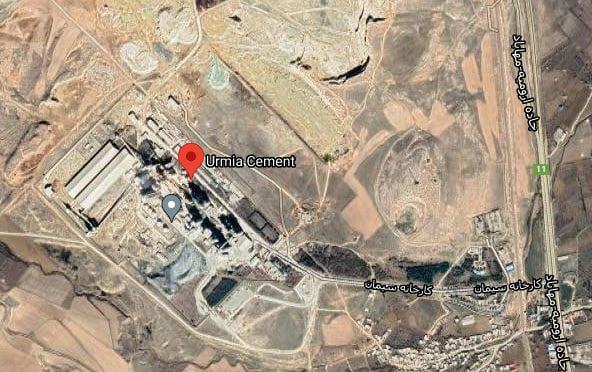 موقعیت جغرافیایی کارخانه سیمان ارومیه